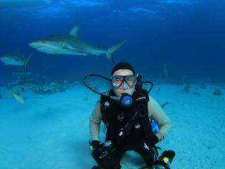 Brad Caribbean reef shark dive-New Providence Island 2018