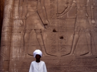 Caretaker of temple-Edfu, Egypt