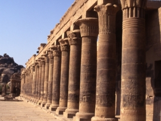Temple of Philae columns-Aswan, Egypt