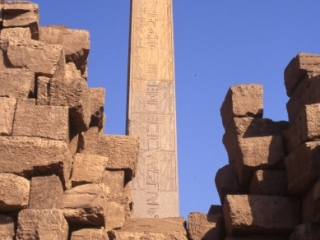 Walled off obelisk of Queen Hatshepsut-Karnak, Egypt