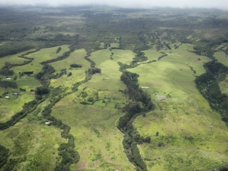 East coast north of Hilo from helicopter (dig)-Hawaii
