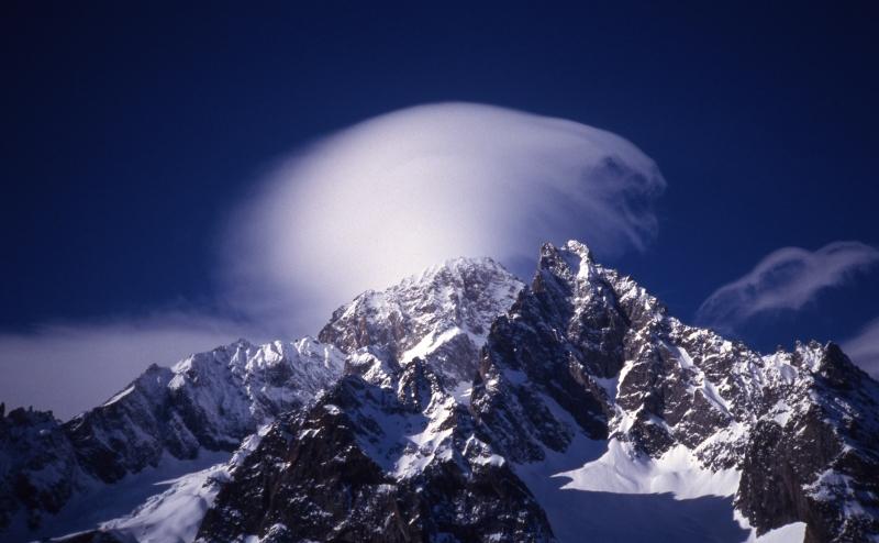 Courmayeur mountains & cloud-Italy