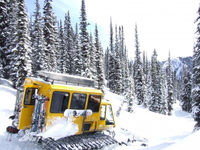 Selkirk Wilderness Skiing snow-cat (dig)