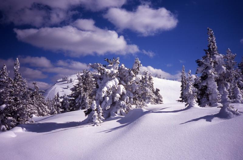 Sun Peaks backcountry ski area-British Columbia