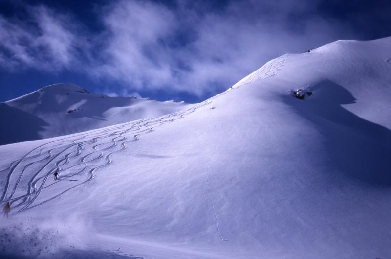 Tyax Lodge Heli-Skiing slope-Chilcotin Mountain range