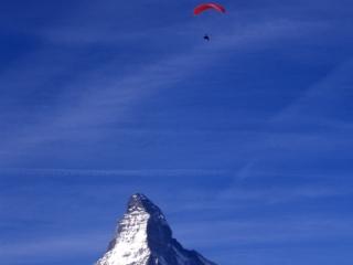 Matterhorn & hang-glider