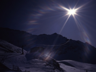 Sun ring by Cresta Youla-Courmayeur, Italy